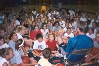 Michael Hummel addressing a camp session